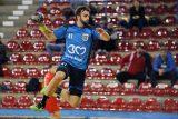 Alin Campan (CS Minaur) in timpul partidei de handbal masculin dintre CS Minaur si ACS Avram Iancu Arad in cadrul etapei cu numarul noua din Divizia A, seria B. PAUL URSACHI / UPFOTO